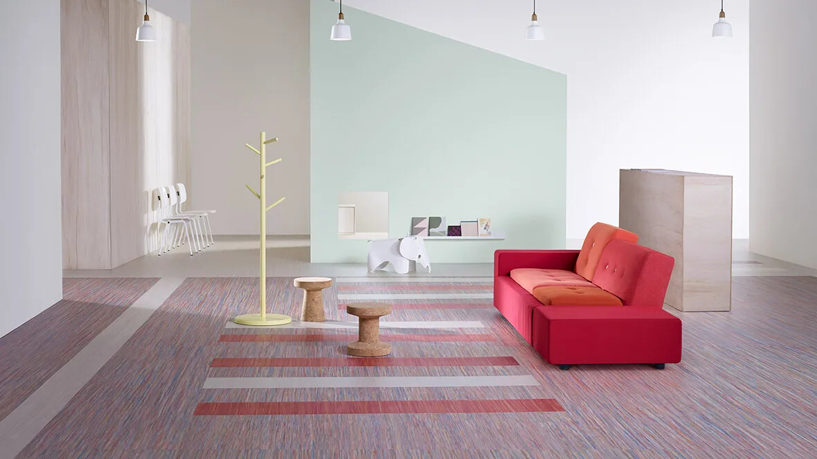Marmoleum Striato Colour 5221-5242 & Original 3575-5232 waitingroom