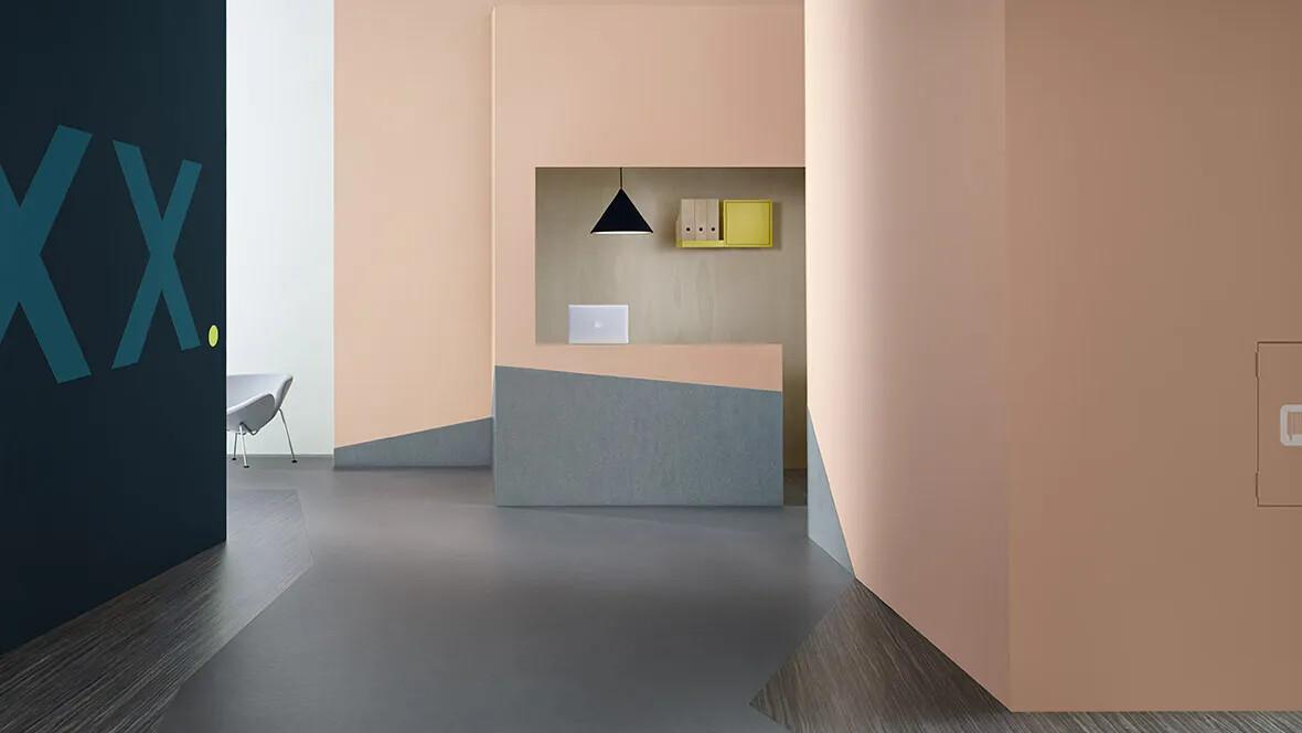 Marmoleum Striato Original 5237  & Fresco 3866 hallway