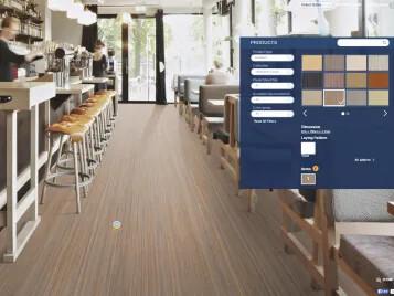 Floor planner Marmoleum Striato