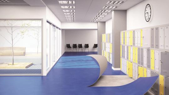 Revêtement de sol PVC Sarlon trafic modul'up | Forbo Flooring Systems
