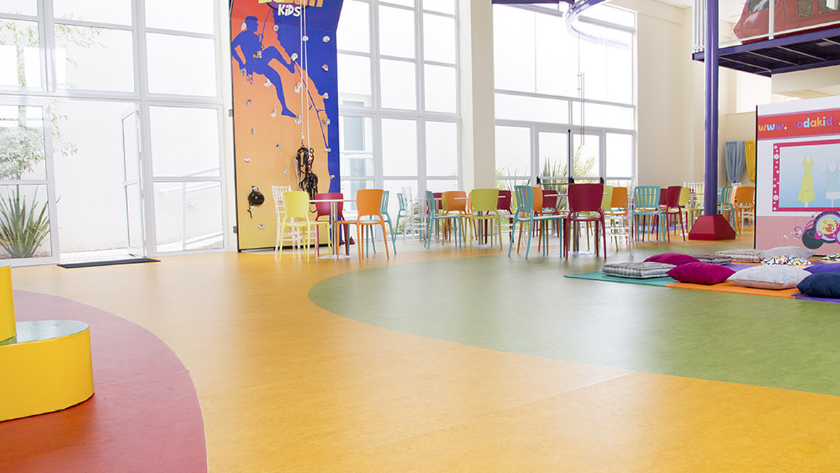 Le Luh party hall 7 Marmoleum Marbled