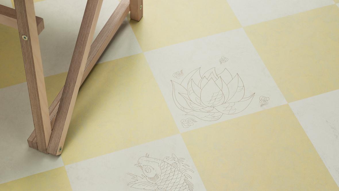 Marmoleum Signature Tattoo Lotus