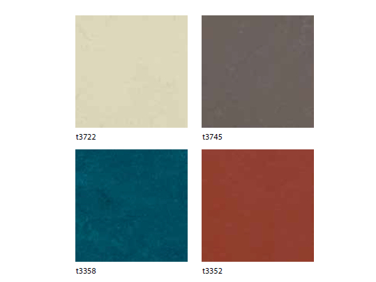 Marmoleum Signature Circle colour overview