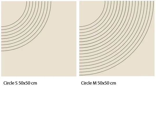 Marmoleum Signature circle sizes