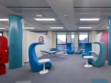 Vodafone Office in Padua - Flotex flocked flooring