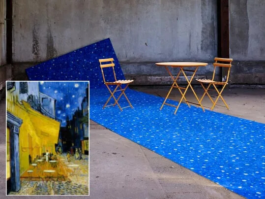 Flotex Van Gogh Terrace at night