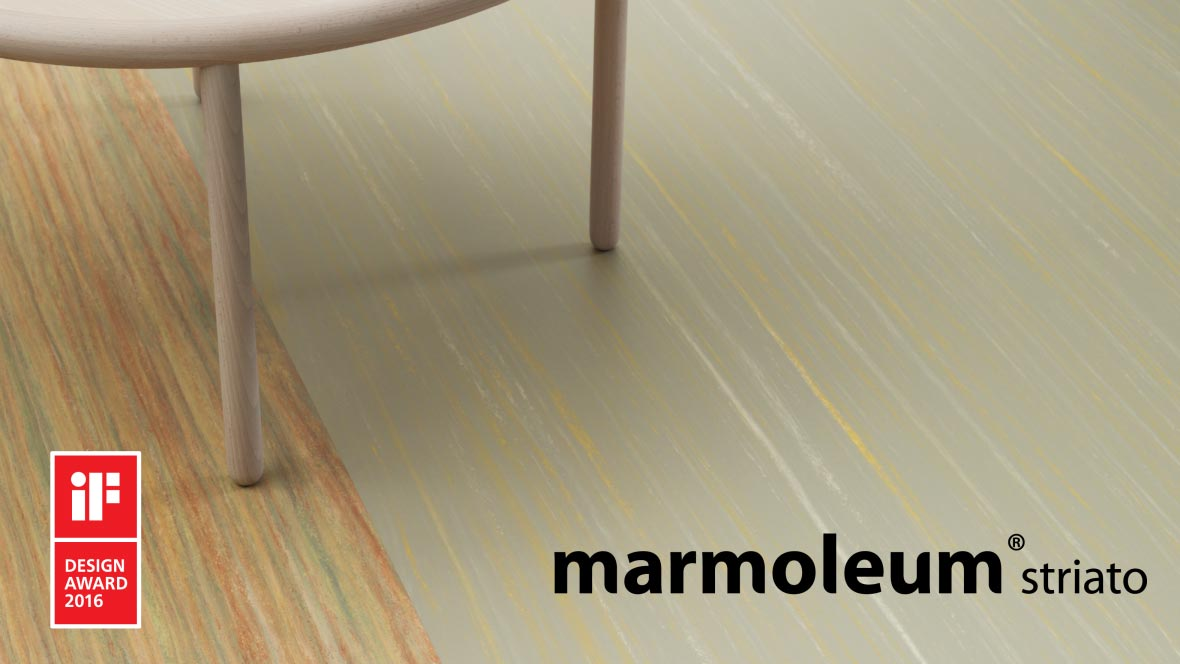 Marmoleum striato 5241 sunshine yellow & 5244 - hint of yellow