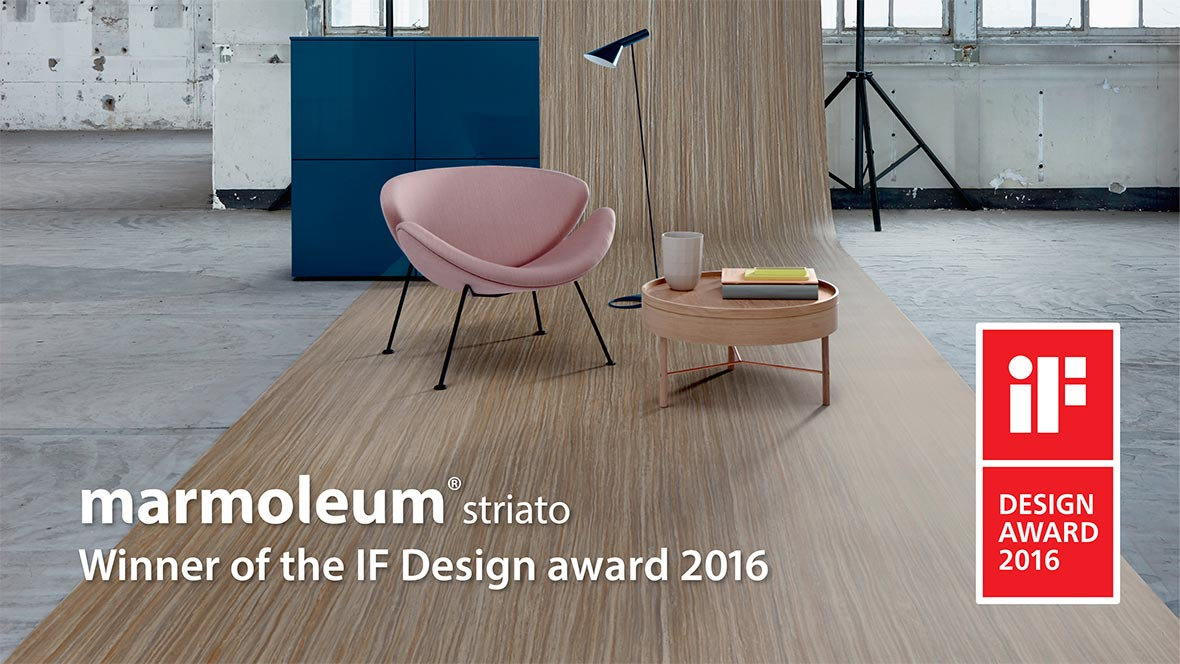 Marmoleum Linear IF award with text - for Homepage