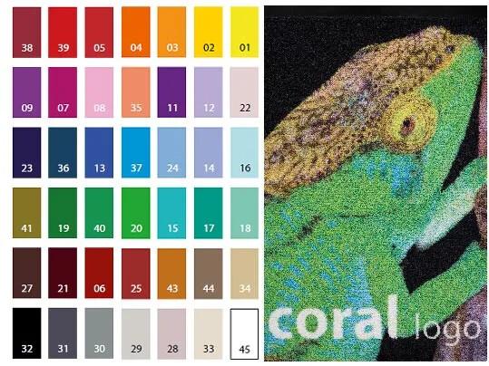 Colores Coral logo camaleón B