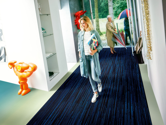 Entrance flooring for aged care facilities