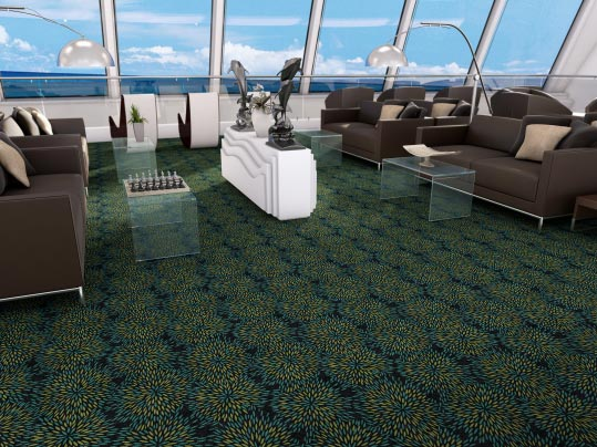 Flotex FR carpet - IMO certified flooring