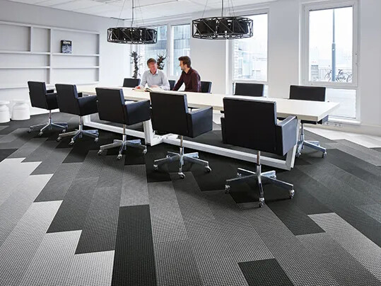 Modular Stylish Plank Textile Flooring For Office Spaces