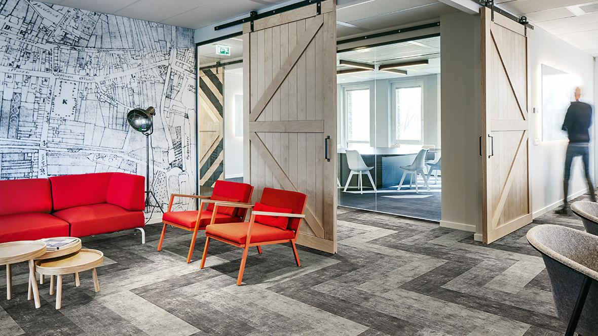 Flotex Planks Concrete - Carpet tiles