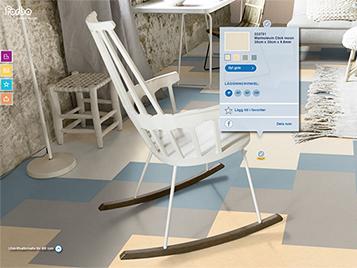 Marmoleum Click-mönster i vardagsrum – Floorplanner