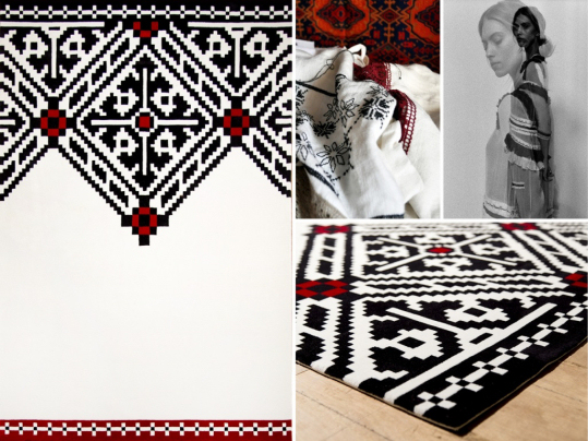Dare to Rug black-white-red