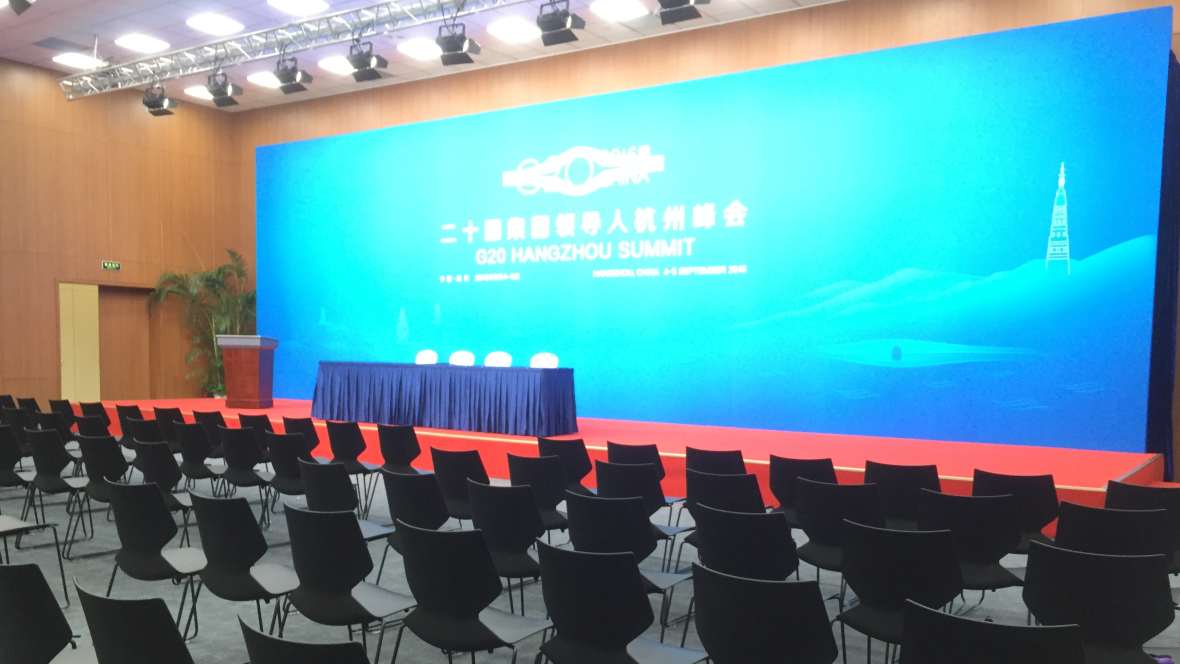 G20 Summit - News and Security Center News Hall