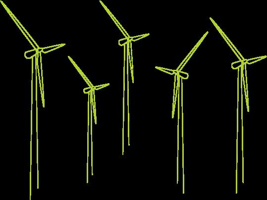Vindkraftverk genererar grön el