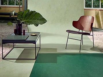 Marmoleum Fresco 3271 y Splash 3430