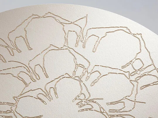 Marmoleum laser engraving