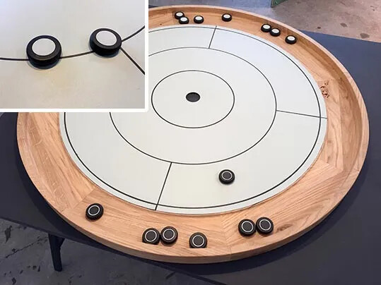 Anke Dold - Crokinole game TRNDS