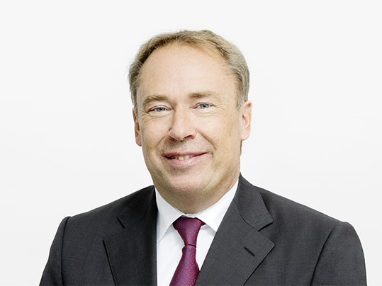 Portrait photograph of Stephan Bauer, Forbo Chief Executive Officer