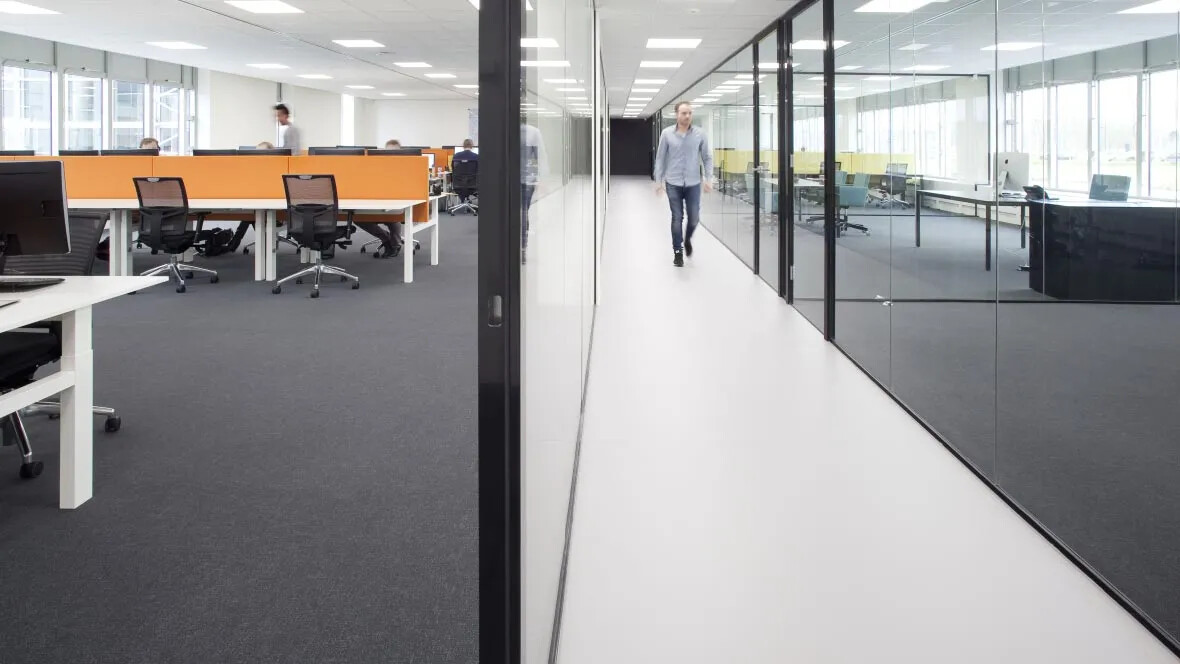 Commercial office flooring - Flotex & marmoleum