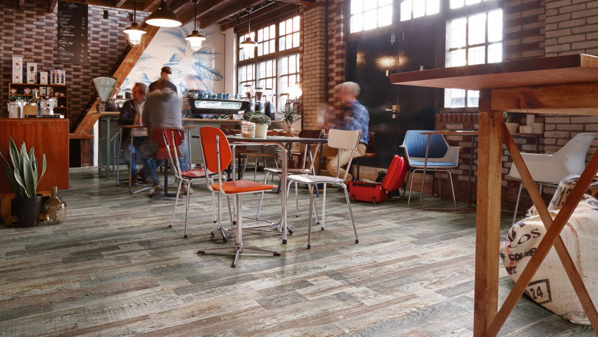 Flooring for cafe - Eternal Vinyl wood sheet flooring