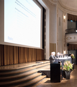 Podium at the Forbo Shareholders' Meeting