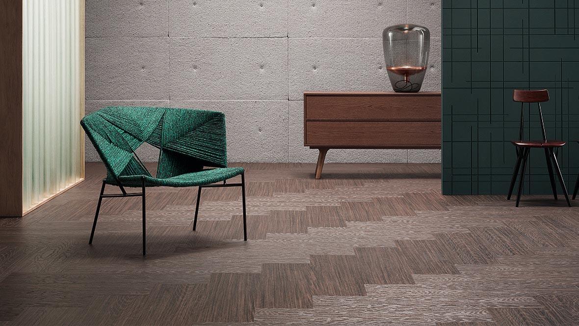 Marmoleum Modular textura embossed linoleum planks