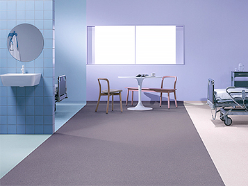 Homogeneous Vinyl aged care flooring