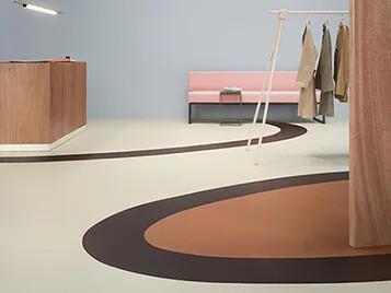 Marmoleum Cocoa flooring