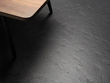 Marmoleum solid linoleum flooring forbo flooring systems for Black linoleum flooring