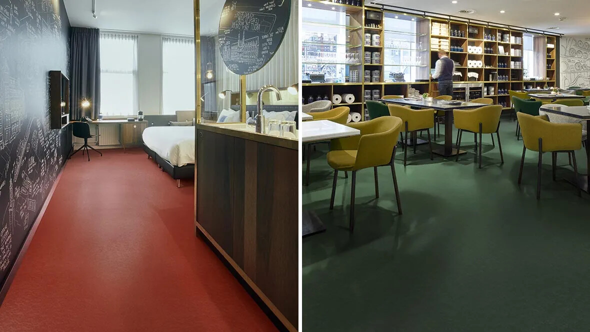 Left image: Marmoleum Walton 3352 Right image: Marmoleum Walton 3359