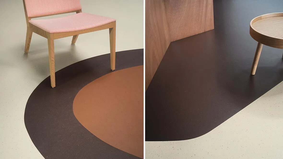 Marmoleum Cocoa 3584-3581-3370 & right 3584-3581
