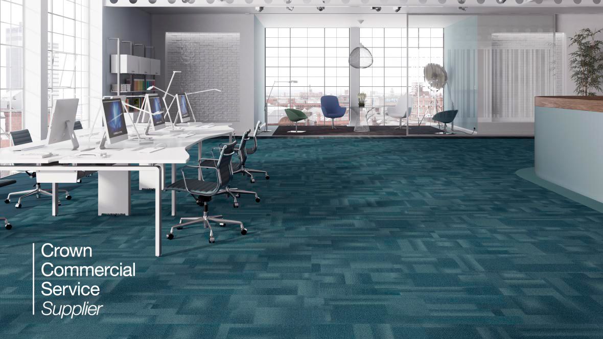 Tessera Mix Glacier carpet tiles CCS