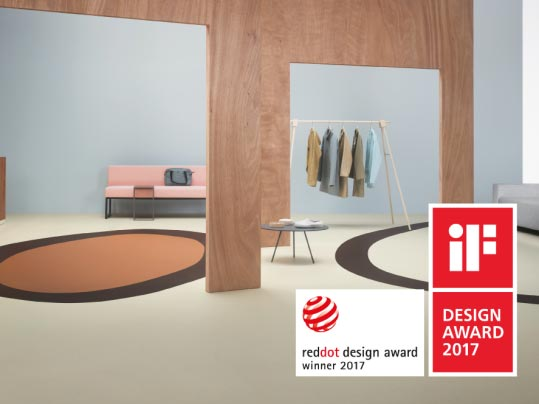 Marmoleum Cocoa i Marmoleum Slate nagrodzone iF Design oraz Red Dot Award 2017
