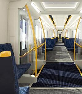 Golv i tågvagn, Auckland Transport