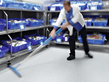 Step safety flooring for retail