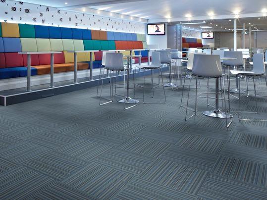 Flotex, revêtement de sol textile floqué, moquette, Forbo Flooring Systems, en stock