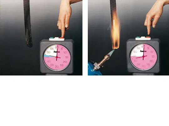 Flame-retardant belts cease to burn within seconds as soon as they are no longer subjected to an open flame.