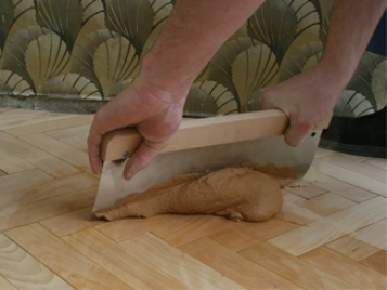 Wood putty parquet