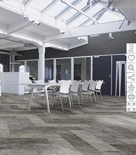 Floorplanner Kontor Flotex Concrete