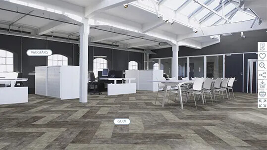 Floorplanner Office Flotex Concrete