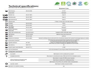 Especificaciones Marmoleum 2.0