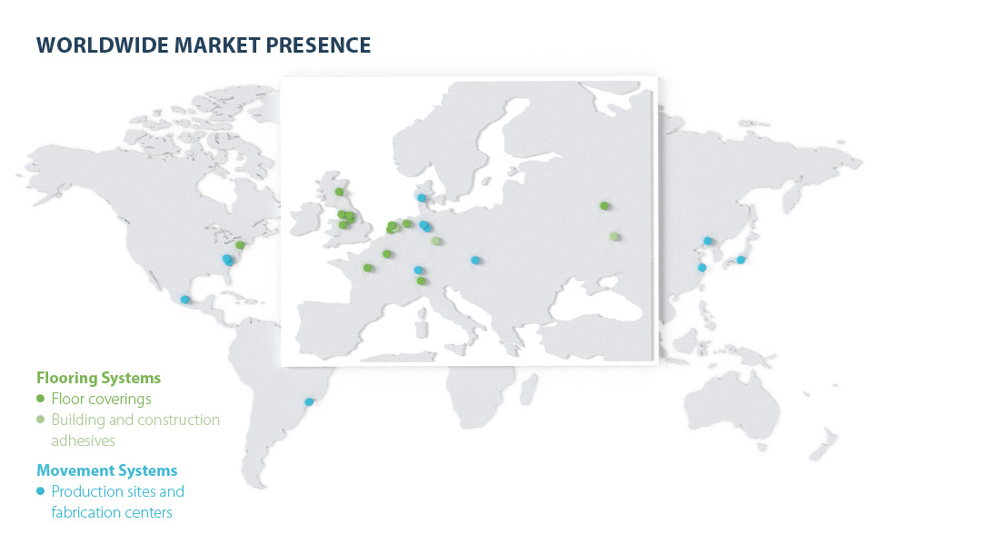 Forbo presence worldwide 2019
