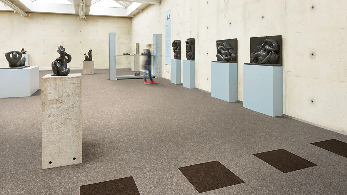 Flotex Colour tiles - 546011 Pebble and 546014 Concrete