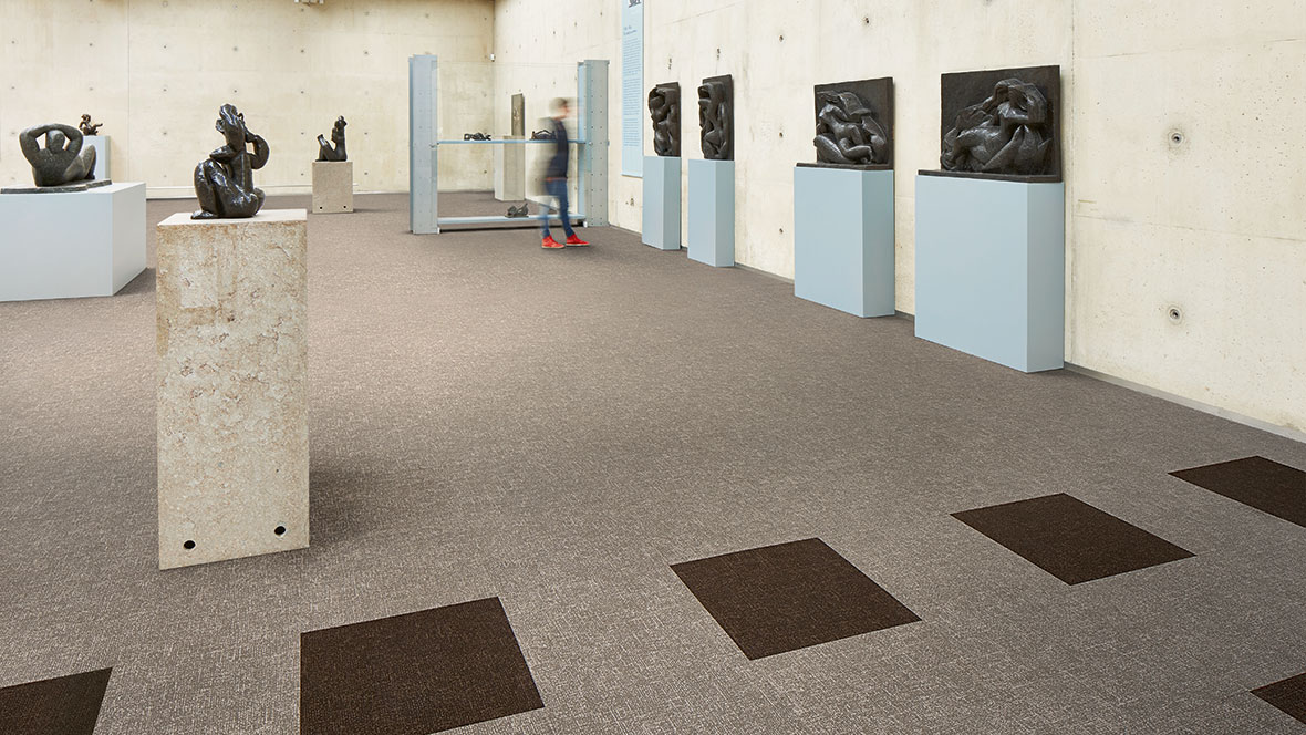 Flotex Colour tiles - 546011 Pebble and 546014 Concrete
