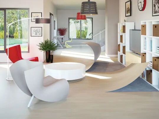 Modul'up adhesive free vinyl flooring - Offices