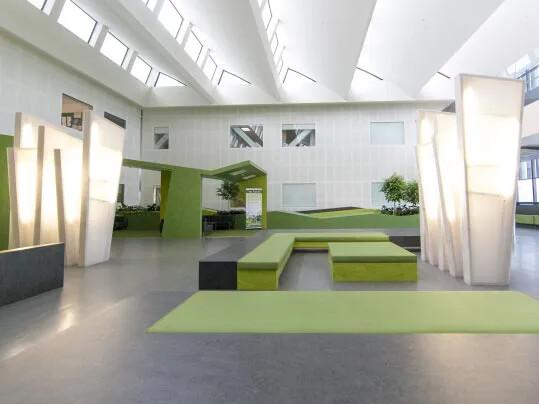 Hospital flooring - natural marmoleum
