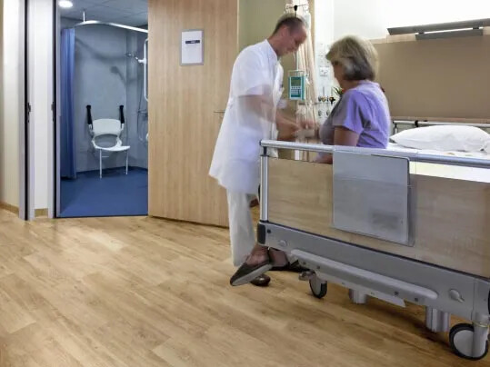 Anti Slip flooring for hospitals